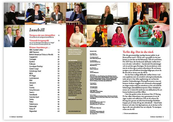 Kvinnor i karriären 2007