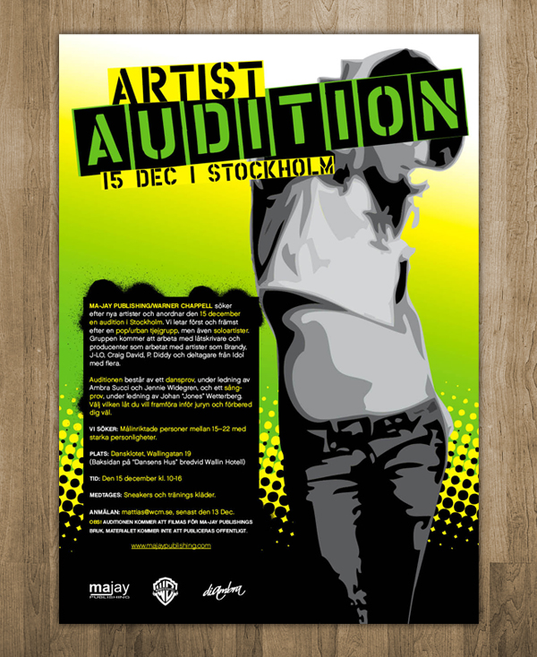 Artist Audition Poster